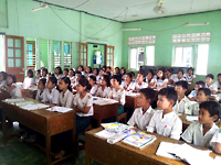 ワディ村学校の子どもたち